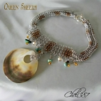 queen sheeba chainmaille necklace