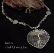 fluorite heart with tree of life necklace
